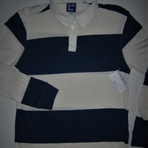 Pacific & Park Shirts - Striped Rugby Shirt Navy Blue Bloomingdales